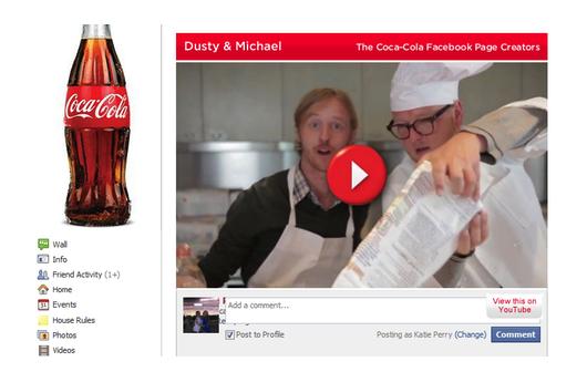 Ação da Coca-Cola usando conteúdo produzido por usuários
