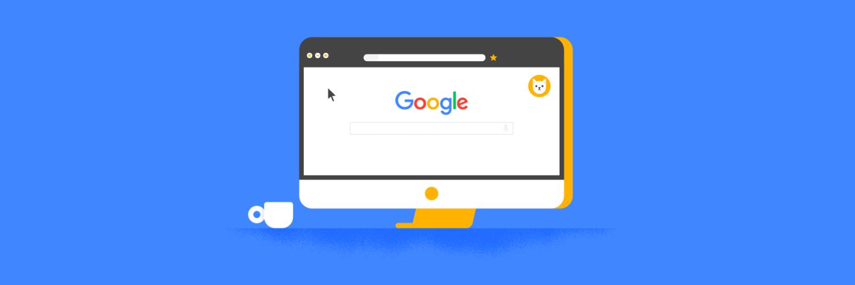 Tela de computador com Google aberto.